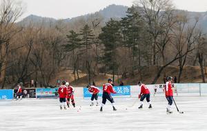 Kinesiska landslaget värmer upp inför