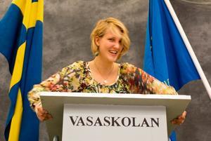 När Matilda Sundquist-Boox intar talarstolen märks hennes politiska engagemang tydligt.