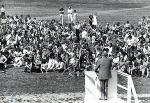Svenska flaggans dag firas på Djäkneberget 1978.