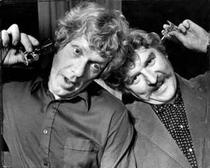 """Tage Danielsson och Hans Alfredson när det begav sig, i revyn """"Glaset i örat"""" 1973."""