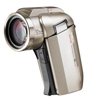 Riktig slowmo.Sanyo är kända för att göra kompakta hd-kameror med pistolgrepp. Enkelt att ha med, enkelt att filma med. HD2000 är första kompakta hd-kameran som ska spela i progressiv full hd med 60 bilder i sekunden, vilket gör att man kan spela in i riktig slow motion, något som man bara kunnat med betydligt dyrare proffsiga kameror tidigare. Kameran använder sd- och sdhc-minneskort.Prisintervall: 6 258–8 200 kronor.