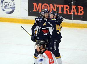 Viktor Mårtensson stod för en strålande pasning fram till Mathias Wiklunds 2–0-mål.