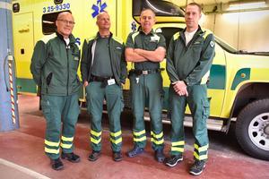 Fyra personer som gör livet säkrare för boende i Mora och närområdet: Anders von Seth, Jonas Hedlund, Folke Dahlberg och Mikael Andersson.