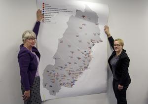 Styrgruppens ledamöter har haft ett tvådagars möte på Frösön. Ann-Marie Johansson (S), regionråd i Region Jämtland Härjedalen, och Maria Stenberg (S), landstingsråd i Norrbotten, konstaterar att landstingen och regionen i norr har verksamhet i samtliga 44 kommuner som ingår i de fyra nordligaste länen.