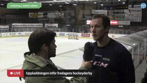 Magnus Åkerlund intervjuades av Sportens Oskar Lund under direktsändningen från träningarna inför morgondagens derby.