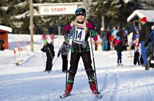 DALKULLA. Elsa Carling, Falun, ställde upp i loppet.