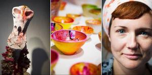 Läcker och färgstark är Pia Anliots konst som visas på Drejeriet.