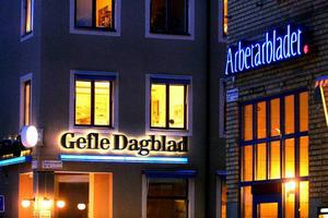 Klassika GD och AB-husen på Hattmarkargatan i Gävle.