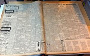 Så här såg VLT ut 1912. Mycket text, få eller inga bilder. Däremot många illustrerade annonser.