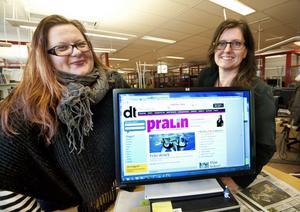 Anna Gullberg och Monica Boström välkomnar fler bloggare till Pralinsajten.