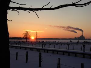 Ännu en av dessa vackra solnedgångar som kan ses ifrån Öster Mälarstrand.