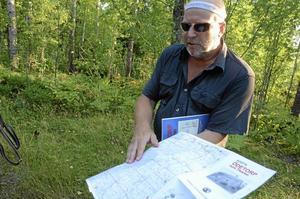Engagerad. Morgan Svensson är fogde i Närkes Skogskarlar. Han har hittills besökt 231 av 306 skyltade ödetorp och delar gärna med sig av sina kunskaper.