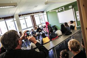 Skolan bjöd även på öppet hus och i många av klassrum var det full aktivitet.
