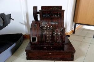Kassaapparaten gjorde handlarens jobb enklare.