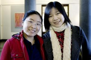 Jiaman Tang och Cheng Zeng läser industriell styrning och logistik respektive geografiska informationssystem. När det är dags för examensarbeten nästa år kan de mycket väl tänka sig att göra dem hos Sandvik.