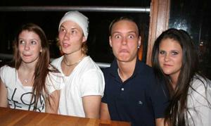 Klubb 34. Felicia, Glenn, Jörgen och Emelie