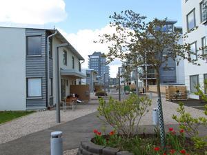 På Gävle strand finns det både bostadsrätter och ägarlägenheter, men det är bara bostadsrätterna som påverkas av beslutet.