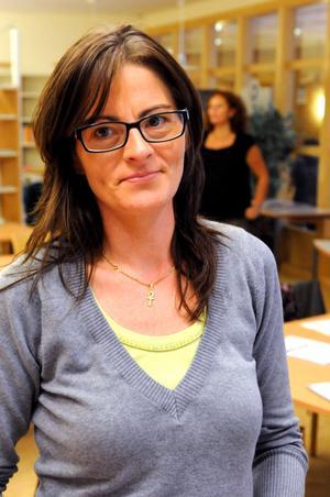 Annika Matthed från Lärcentrum är den som haft kontakterna med högskolan i Falun och hon hoppas på en fortsättning när den nuvarande utbildningen är avslutad.