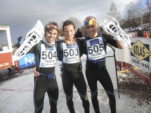 Jan Margarit, Just Sociats och Marc Traserra reste hela vägen från Katalonien. De kom på första, andra och tredje plats på 9 kilometer herrar.