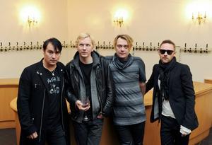 Markus Mustonen, Sami Sirviö, Martin Sköld och Jocke Berg i Kent. Arkivbild   Foto: Britta Pedersen/TT