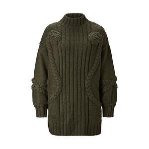 2. Para ihop med läderbyxor. Stickat tröja Tamara i mörkgrått, Carin Wester för Åhléns. 599 kronor.