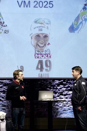 Johan Olsson berättade att Vasaloppet är det stora målet den här säsongen och Johan Sares redogjorde för skidförbundets ägande i Beyond skiing och Svenska skidspelen.
