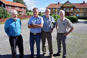 Sören Winroth, Per-Olof Olsson, Lars Olsson och Per-Ola Säterhall, kvartetten som nu köpt Erskes i Fanbyn. Foto: Ingvar Ericsson