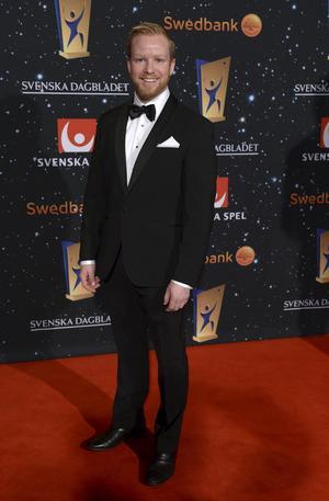 Niklas Edin på Idrottsgalan i år. Edins lag var nominerat som Årets Lag. Men de fick inte priset.