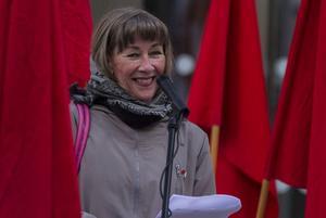 Elisabeth Swedman kandiderar till EU-parlamentet för vänsterpartiet.