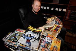 Jesper Strömbäck har samlat alla sina köp av serietidningen Fantomen.