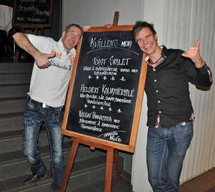 Urban Lindén och Magnus Proos tyckte att menyn såg smakfull ut.