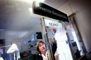 Utan jobb. Ett 50-tal fast anställda och vikarier i Dalarna blir av med jobben när Svensk kassaservice läggs ner nästa år. Foto: Johan Solum