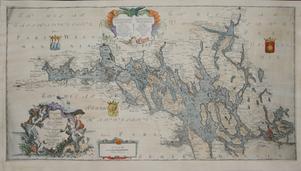 Även på Jacob Nordencreuts karta över Mälaren från 1739 har Neptunus en given plats.