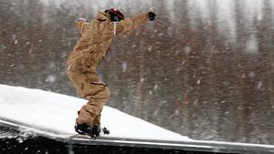 Snowboardåkning i Högbyn 2005. Nästa år kan det som tidigast bli möjligt igen.