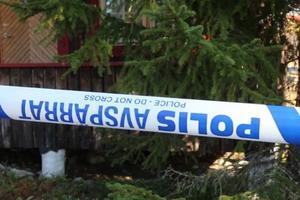 De berörda husen i sportstugeområdet var under tisdagens avspärrade