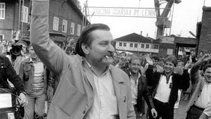 Fackföreningsledare. Lech Walesa var en förgrundsgestalt i kampen för demokrati i Polen.