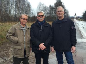 Arbetsgruppen för en framtida pumpstation i Svärdsjö. Här representerad av Leif Källman, Rune Fredriksson och Göran Forsén.