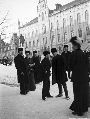 Vinter på Stortorget 1907.