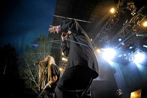 hultsfred. Looptroop Rockers på en spelning på Hultfredsfestivalen 2008.Foto: Jessica Gow/Scanpix