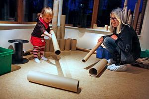 Lek med ljus och skuggor är också en del ljussättningen på Matildelunds förskola.