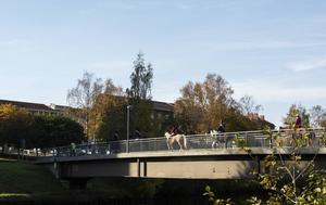 Selångersån korsades via Åbron.