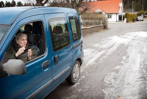 Lisbet Nilsson har haft flera vildsvinsbesök.