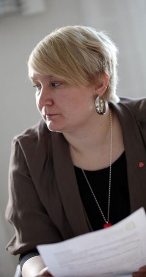 Elin Lundgren, S, ordförande i Gävle Arbetarekommun.