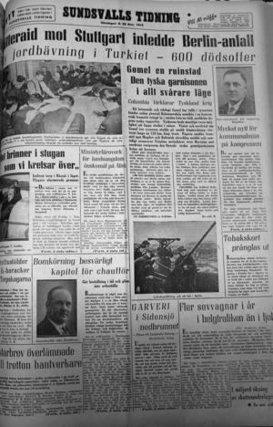Första sidan av första söndagsnumret den 28 november 1943 ...