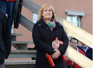 Kommunstyrelsens ordförande i Mora, Anna Hed (C), är ordförande i intresseföreningen Dalabanans Intressenter. Foto: Nisse Schmidt