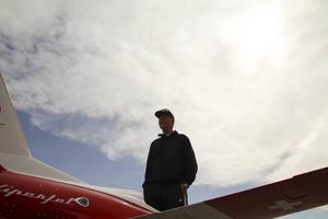 Skyn är lekplats för Hans Munktell och resten av modellflygarna på Molanda.