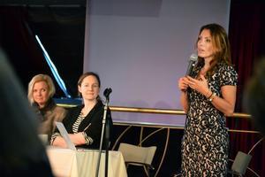 Alexandra Pascalidou talade om entreprenörskap och kvinnligt företagande.