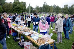 Picknick på Djäkneberget för att motverka främlingsfientlighet, arrangerad av Tillsammans gör vi skillnad.
