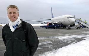 Sverigeflygs styrelseordförande Pigge Werkelin kom på besök i november för att etablera flygtrafik på Åre Östersund flygplats.