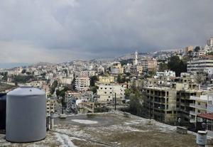 I den libanesiska bergsbyn Aley förberedde sig familjerna för flytten till Åre kommun.